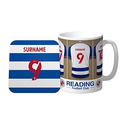 Official Personalised Reading FC Dressing Room Mug & Coaster Set