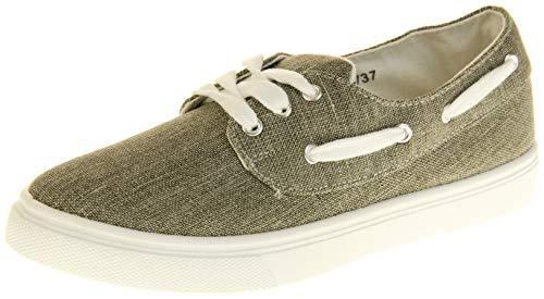Dunlop Damen Flache Schuhe Zum Schnüren Grey EU 38