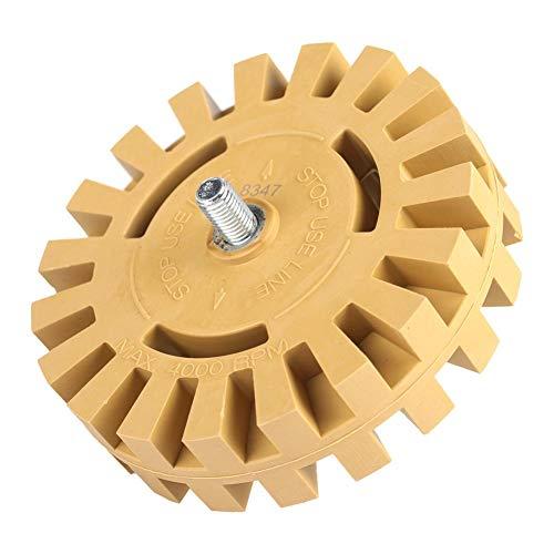 Herramienta de eliminación de gráficos, práctica rueda de goma de borrar de alta resistencia para quitar vinilo para RV para quitar pegatinas para barcos y camiones(4 Inch, Shank diameter 6mm)