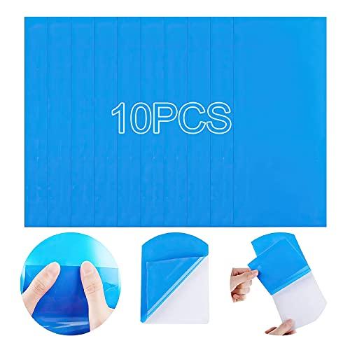 10er Pack Selbstklebende Reparaturflicken Pool für Schwimmbäder, Fmlkic Reparatur-Pool-Flicken, PVC-Reparaturset Pool, Pool-Flicken, selbstklebend Unterwasser, Klebe-Flicken Pool für Wasserbett,blau