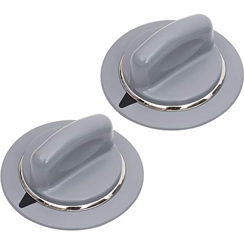 UNBREAKABLE WE1M964 Dryer HEAVY DUTY Timer Knob Replacement Part by Blue Stars – Exact Fit For GE Dryers - Replaces 1811122 AP4980845 PS3487132 - PACK OF 2