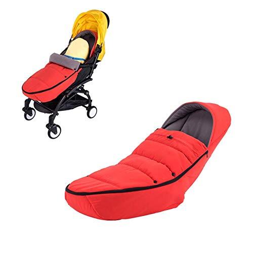 terynbat - Banderines para Cochecito de bebé, Estilo toldo para Proteger al bebé del frío Invierno en Asientos de Coche y carritos útiles, Rojo, 100cm*45cm