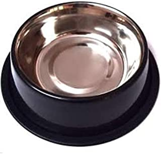 Truvic Stainless Steel Dog Food Bowl, Standard Size (Multicolour)