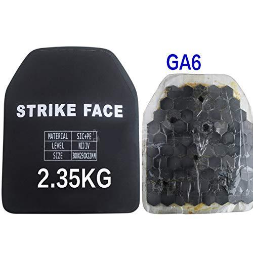 Protector de pecho de carburo de silicio de polietileno NIJ IV con placa antibalas GA6