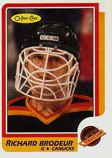 1986 O-Pee-Chee Regular (Hockey) card#246 Richard Brodeur of the Vancouver Canucks Grade Near Mint