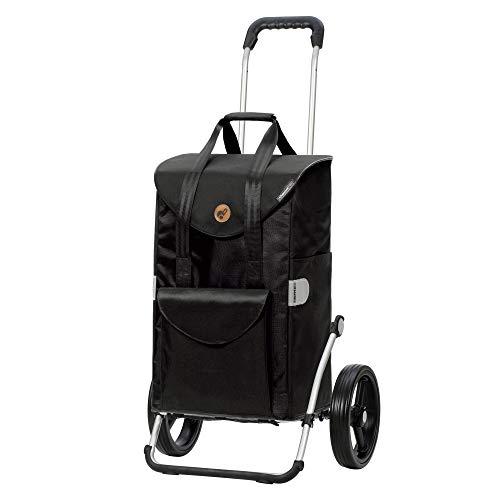 Andersen Einkaufstrolley Royal mit 3-Speichenrad und Einkaufstasche Senta schwarz 49 Liter