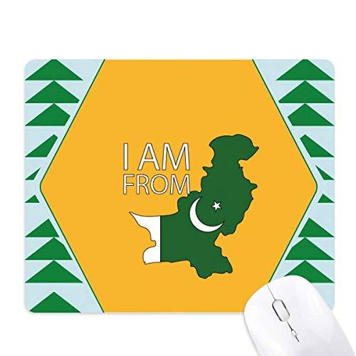 je suis du pays du pavillon national pakistanais tapis de souris green pine tree tapis en caoutchouc