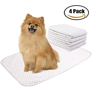 4 Pack Washable Reusable Dog Training Pad - Superior Absorbent,Waterproof,Odor Control - for Puppy Potty Training, Incontinence, Travel, Daily Night Use - Medium Size 20×28