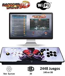 Theoutlettablet@ - Pandora Box 3D WiFi con 2448 Juegos Retro Consola Maquina Arcade Video Gamepad VGA/HDMI/USB