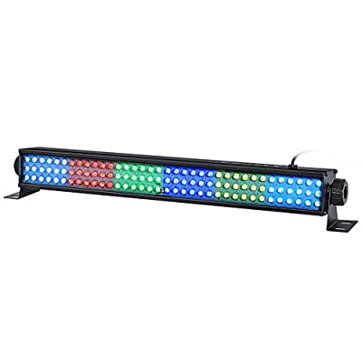 """YeeSite Wash Light Bar, 20"""" 25w 108 RGB LEDs Stage Light Bar by DMX 512 and Sound Activated for Club Ballroom Uplights Wedding Party Stage Wash Lighting"""