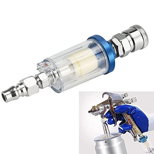 ウォーターセパレーター G1/4オイルフィルター 水分除去 カプラー付き 油水分離フィルター エアーレギュレーター水分離器 空気圧レギュレータ エアフィルター 空気圧ツール 高効率 エアツール スプレーガン 塗装ガン エアコンプレサー用(シルバー)