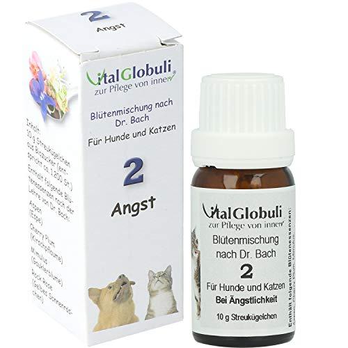 SUPRA-CELL VitalGlobuli Nr. 2 – ANGST | Streukügelchen für Hunde und Katzen | bei Unsicherheit und Selbstzweifeln | Blütenmischung nach Dr. Bach | 10 Gramm