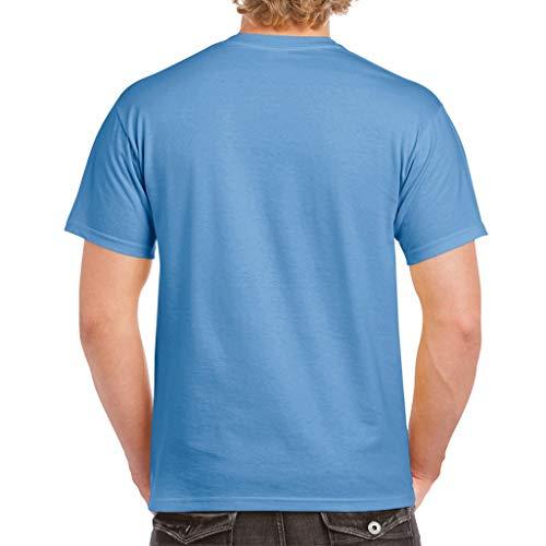 Gildan - Camiseta Resistente Modelo Hammer para Hombre (XL) (Azul FLO)