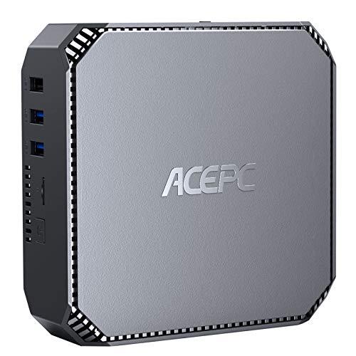 Mini-PC, Intel Celeron J3455 Windows 10 Pro-Mini-Computer, 8 GB DDR3 120 GB ROM HD-Grafik 4K Gigabit-Ethernet-Dualband-WLAN mit Zwei Ausgängen Bluetooth 4.2