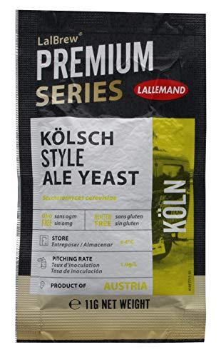 LalBrew® Köln - Kölner-Art Ale-Hefe- 11 g Trockenhefe Bierhefe Hefe zum Bierbrauen obergärig Hobbybrauer Heimbrauerei Kölsch brauen