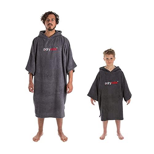 Dryrobe Towelling Robe - Short Sleeve Hooded Poncho Towel Changing Robe...