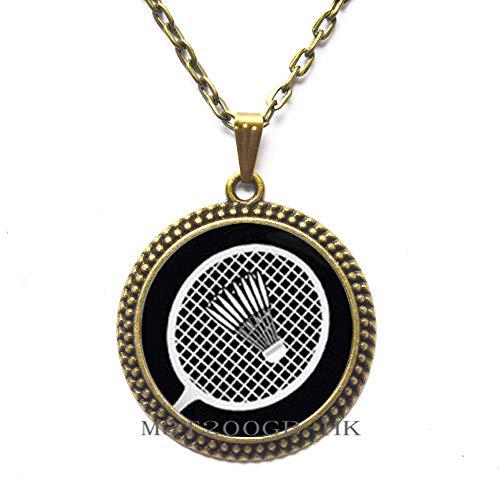 Badminton-Halskette, Badminton-Geschenk, Badminton-Schmuck, Badminton-Spieler, Badminton-Fan, Sports-MT374