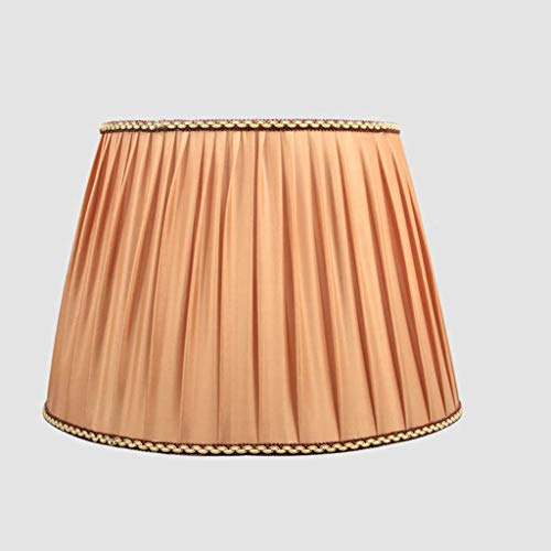 Pomarańczowe plisowane abażury, materiałowy bęben abażur Stożkowy abażur do lampy podłogowej stołowej Nowoczesna lniana klosz lampka nocna Uchwyt na oprawki E27