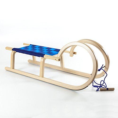 Holzfee Hörnerrodel Colint Baran 100 G Gurtsitz blau Hörnerschlitten Schlitten