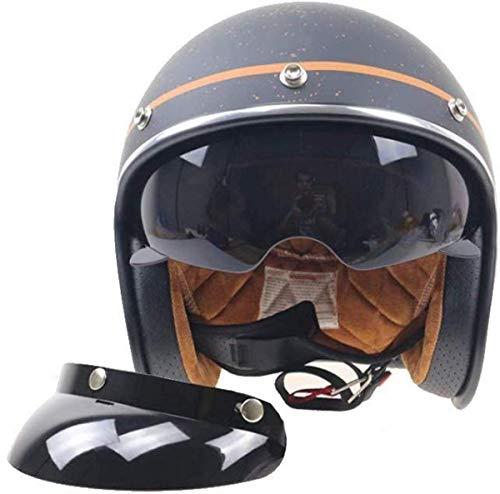 Jet Vintage Helm Motorrad Herren Damen Mit Integriertem Sonnenvisier Uv Schutzbrille...