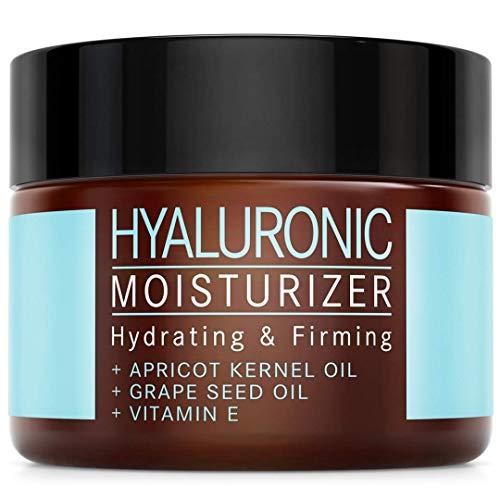 Crema Hidratante Facial de Ácido Hialurónico - COSMÉTICA NATURAL VEGANA con Aceite...