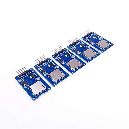 ANGEEK - Lector de Tarjetas Micro SD TF para Arduino Raspberry Pi (5 Unidades)