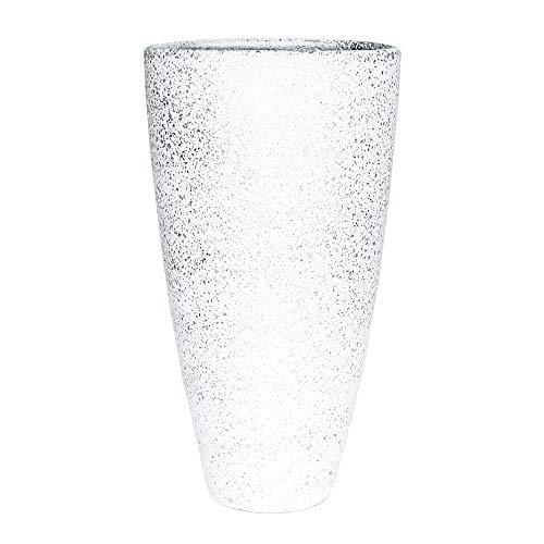 Casablanca Vase Polar Weiss/Silber,Keramik H.40cm