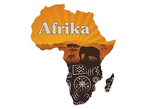 GRAZDesign Wandtattoo Elefant und Tiere - Wanddeko Afrika - Türtapete Afrikanische Zeichen / 36x30cm / 721712_30