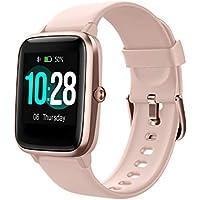 Reloj Inteligente Mujer,Smartwatch Hombre Impermeable IP68 Pulsera Actividad 1.3 Pulgada con Monitor de Ritmo cardíaco, Podómetro, Control de música, Reloj Actividad para Xiaomi Huawei iPhone (Rosado)