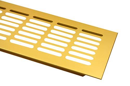 Alluminio Lüftungsgitter Piano ponte Ventilazione 100mm x 600mm in diversi colori - Anodizzato oro