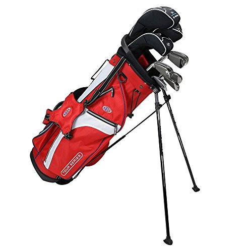 US KIDS GOLF Tour Series Tour Series 10 Club Stand Junior Set Bag with Graphite/Steel...