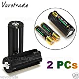 SLB Works Brand New 2*Cylindrical 3 AAA Plastic Battery Holder Adapter Case Box