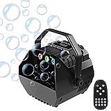UKing - Pequeña máquina de pompas de jabón con luces RGB, máquina de burbujas automática, control remoto, para niños, fiestas, bodas, sopladores de pompas