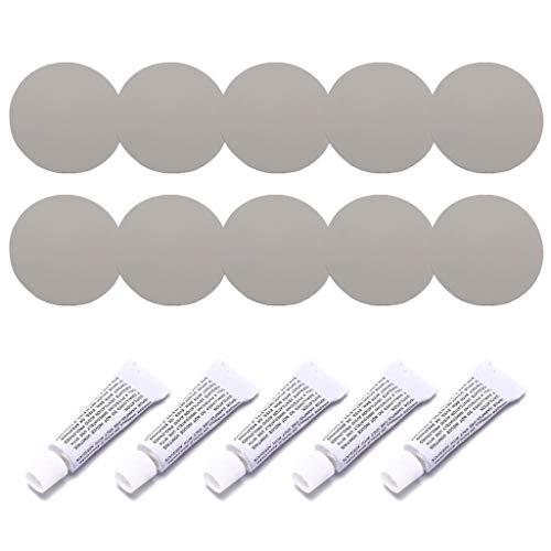 WOWOWO 5 Set Kit di Riparazione per gommoni Patch adesive in Materiale PVC per Divano ad Acqua