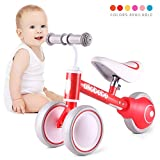 Baby Balance Bike-Gifts and Toys for 1 Year Old Girls Boys No Pedal Bicycle with Adjustable Seat 3 Wheels Toddler Bike for 12-36 Months Baby