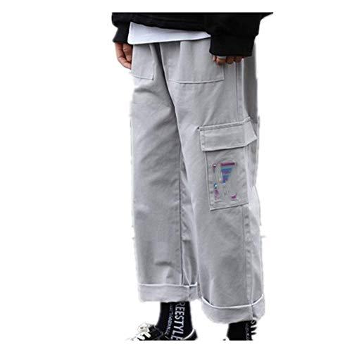 Streetwear - Pantalones de carga para hombre, estilo casual, pantalones de hip-hop para correr, deportes, de algodón puro, para hombre