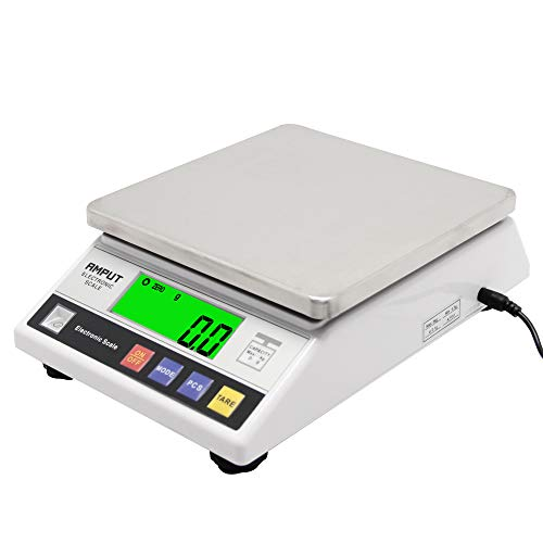 CGOLDENWALL Rechargeable High Precision Digital Accurate Analytical Electronic Balance Lab Scale Laboratory Weighing Industrial Scale with Counting Function CE 0.1g (10kg, 0.1g)