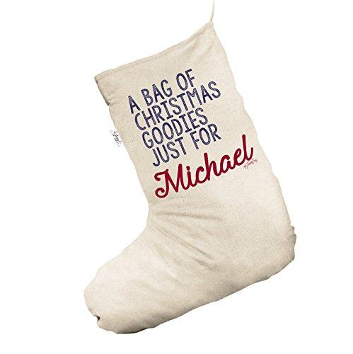 Un sacco di Natale golosità personalizzato Jumbo Natural calze di Natale calze