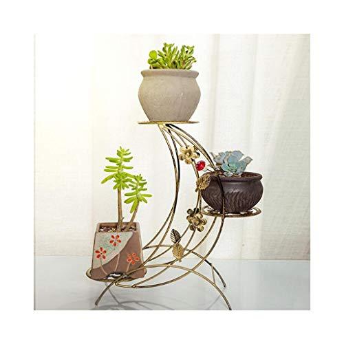 KDLMB Flower stand metalen kleine bureaublad vensterbank twee-tier bloem pot rack plantenstandaard