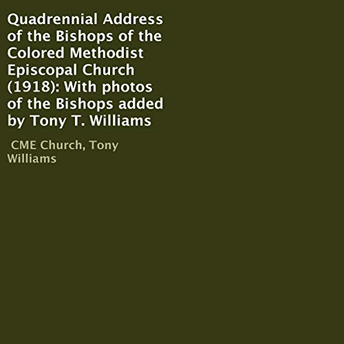 Couverture de Quadrennial Address of the Bishops of the Colored Methodist Episcopal Church (1918)