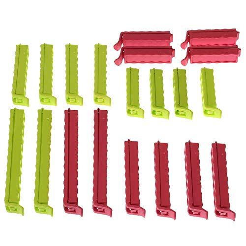 MACOSA PF12376 20-delige set sluitclips kunststof luchtdicht afsluiten levensmiddelen invriezen zakjes & zakclips keukenaccessoires keukenhulp