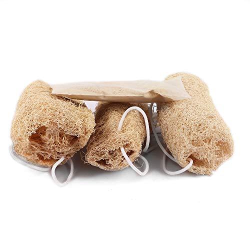 Premium 3-SET FLAWLESS SKIN 100% ORGANIC loofah bath scrubber loafas natural sponge exfoliating sponge body loofah bath scrub sponge exfoliating pouf exfoliating loofah organic loofa egyptian loofah