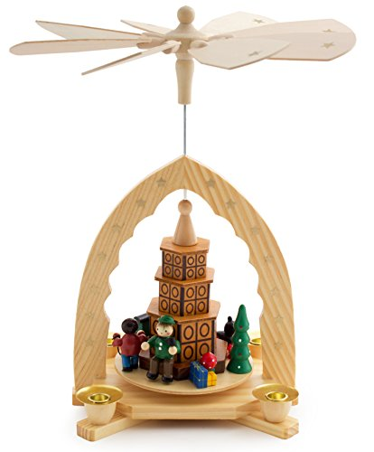 BRUBAKER Wooden Christmas Pyramid - Tiled Stove Scene - 12 Inches (30 cm) High
