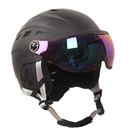 Skihelm volwassen kinderen outdoor sport lichte helm met bril masker skateboard snowboard helm