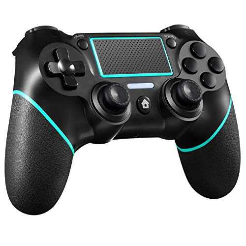 PS4 Controller ORDA Wireless Gamepad for PS4/PS4 Pro/PC and Laptop with Vibration and Audio Function, Mini LED Indicator, High-Sensitive Controller with Anti-Slip (Berry Blue)