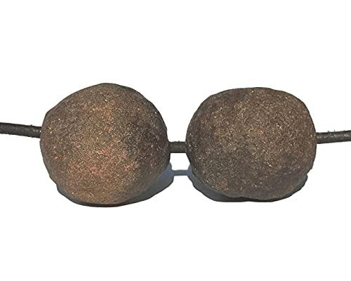 MKöpke® - Moqui Marbles - Anhänger gebohrt - Shaman Stones Kette mit Lederband   09