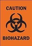 Brady 25780 Plastic Biohazard Sign, 10' X 7', Legend 'Caution Biohazard (with Picto)'