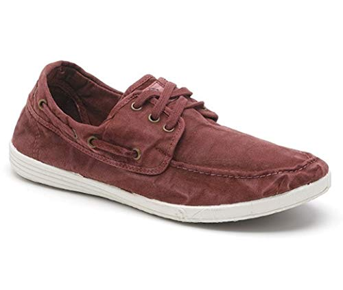 Natural World Eco Zapatos - 303E - Natural World Hombre - 100% EcoFriendly - Calzado Hombre Verano (Burdeos, Numeric_46)