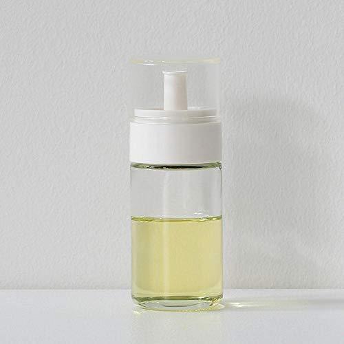 川崎合成樹脂 日本製 液だれしにくい ガラスボトル オイル&ビネガー差し ホワイト