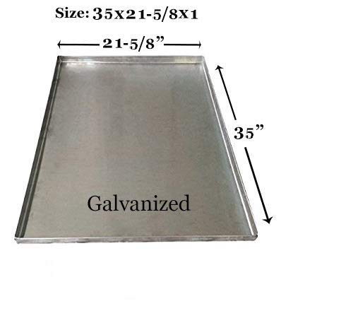 Dog Crate Replacement Pan Chew-Proof and Crack-Proof Metal Pan for Dog Crates Galvanized 35 x 21 5/8 x 1